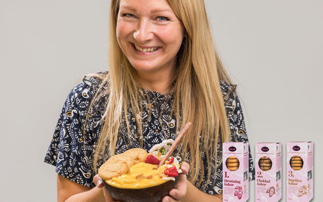Anna gör smoothies med Gillekakor